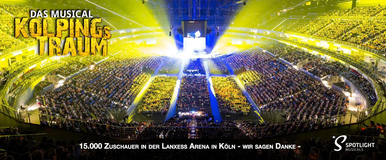 """""""Kolpings Traum"""" in der Lanxess-Arena Köln"""