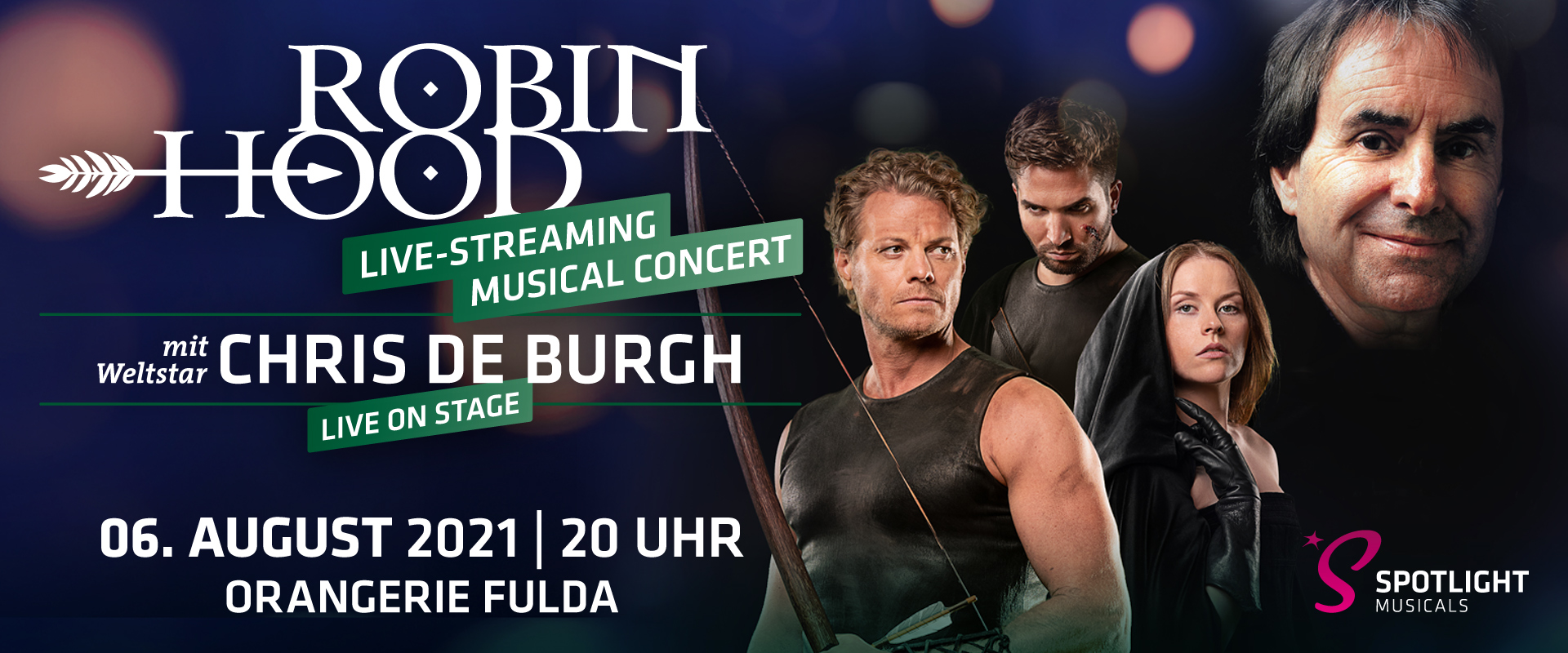 Robin Hood Live-Streaming Musical Concert mit Chris de Burgh